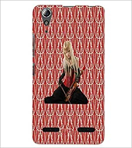 PrintDhaba Violin Girl D-5654 Back Case Cover for LENOVO A6000 PLUS (Multi-Coloured)