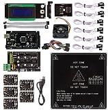 サ インスマート RAMPS 1.4 3Dプリンターをはじめよう 互換キット(Mega 2560 R3 + A4988 + LCD2004モジュール + MK2B + Mechanical Endstop for Arduino RepRap) 詳細なチュートリアルPDF提供!