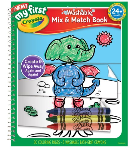 Crayola My First Crayola Mix and Match Coloring Book