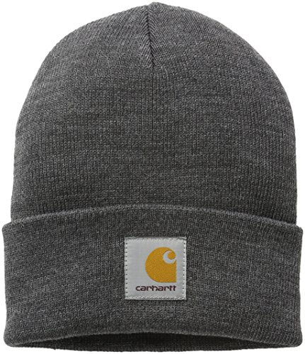 carhartt-unisex-fedora-short-watch-hat-grau-dark-grey-heather-one-size