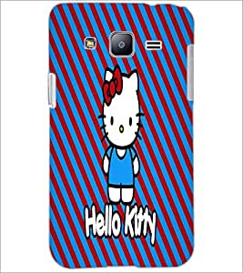 PrintDhaba Hello Kitty D-5609 Back Case Cover for SAMSUNG GALAXY J2 (Multi-Coloured)