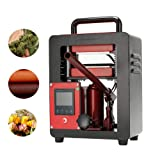 ETE ETMATE 5 Ton Hydraulic Jack Heat Press - 2.4x4.7 Inch Anodized Heat Press Plates - 500 Watts - Dual Heating Machine - Accurate Temp Detected (Color: Type B)