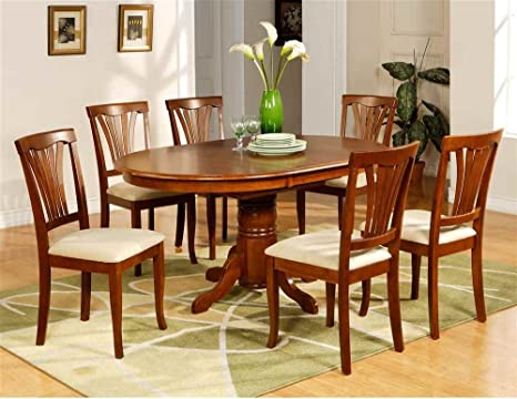 Avon Butterfly Leaf Table Set in Saddle Brown Finish