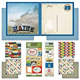 Scrapbook Customs Themed Paper and Stickers Scrapbook Kit, Maine Vintage