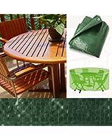 Housse de protection casa pura® pour salons de jardin   2 tailles au choix - rond   imperméable et résistant   200x90cm (L)