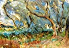 Hand-made Oil Painting Reproduction on Canvas - 36 X 25 inch Impressionism Style Landscapes : Landscape 1909 Corfu - by John Singer Sargent