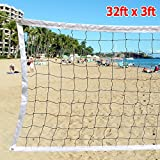 Yaheetech Volleyball Net With Steel Cable Rope Official Size Outdoor Indoor 32 FTx3 FT