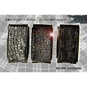 マユミ ハセガワ クロコダイル レザー iphoneケース(本革) 日本製