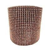 "Diamond Mesh Wrap Roll Rhinestone Crystal Ribbon 4.5"" x 10 yards (Brown)"