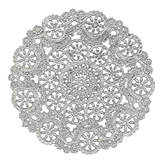 Royal Lace Round Foil Doilies, Silver, 10-Inch, Pack of 8 (B26506)