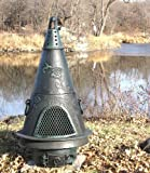 Outdoor-Chimenea-Fireplace-Garden-in-Antique-Green-Finish-Gas-Fueled