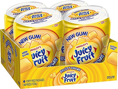 Juicy Fruit Fruity Chews, 40 Piece Bottle (Pack of 4 bottles) (Juicy Fruit Gum compare prices)
