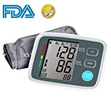 Automatic Upper Arm Digital Blood Pressure Monitor FDA Approved with Adjustable Large Cuff, Accurate Electronic BP Machine, 90 Groups Memory, Large LCD Screen (Color: Black)