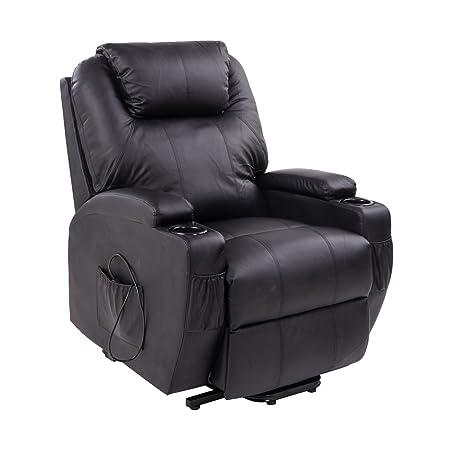 Homcom® Elektrischer Fernsehsessel Aufstehsessel Relaxsessel Sessel mit Aufstehhilfe Schwarz