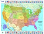 USA Political Wall Maps (Michelin Wal...