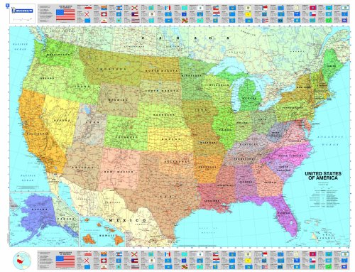 Michelin Map USA Political  14761  (p, Rolled) (Maps/Wall (Michelin))