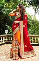 #9: sarees for women party wear printed sarees with blouse pink by akk enterprise