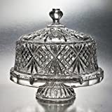 Godinger Dublin Crystal Cake Plate with Dome Cover