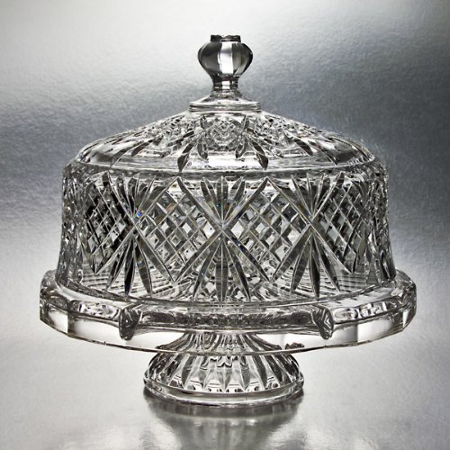 Godinger Dublin Crystal Cake Plate with Dome Cover (Godinger Crystal Cake Plate compare prices)