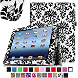 [New Release] Fintie Folio Case for Apple iPad 4th Generation with Retina Display, iPad 3 & iPad 2 Vegan Leather Stand with Smart Cover Auto Wake / Sleep - Versailles