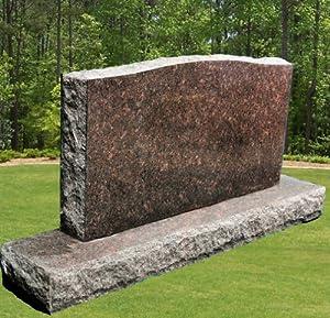 Dakota Mahogany Granite Upright Serpentine Monument Double Marker