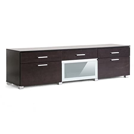 Baxton Studio Basilio Modern TV Stand, Dark Brown