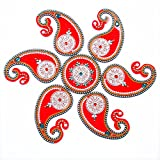 Andall Creations Kundan Rangoli Floor Decaratives