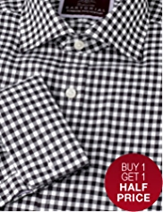 Sartorial Pure Cotton Textured Gingham Checked Shirt