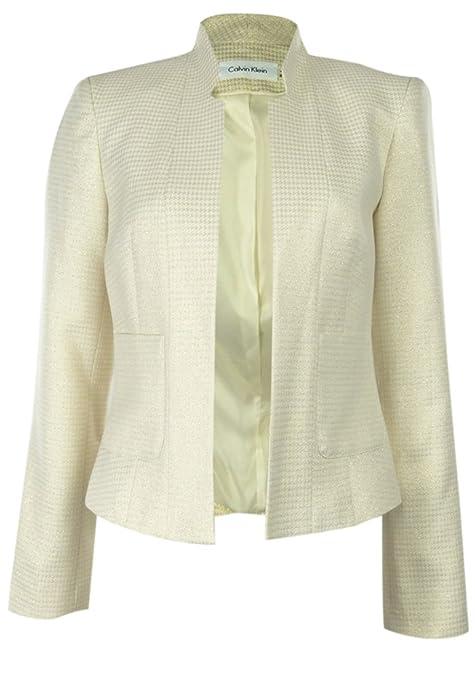 Calvin Klein Metallic Houndstooth Suit Jacket
