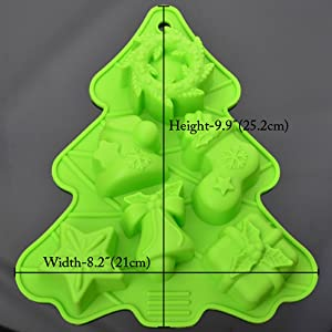 SoapMaking Supplies Silicone Soap Molds - Loaf for Making Hand Made Soap Bar Homemade Lotion Bars Bath Bombs Christmas Gifts SET Shape (Color: Green, Tamaño: Medium)