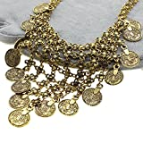 GGG Retro Antique Tibetan Bohemian Style Flower Long Tassel Pendant Necklace Gold Colour