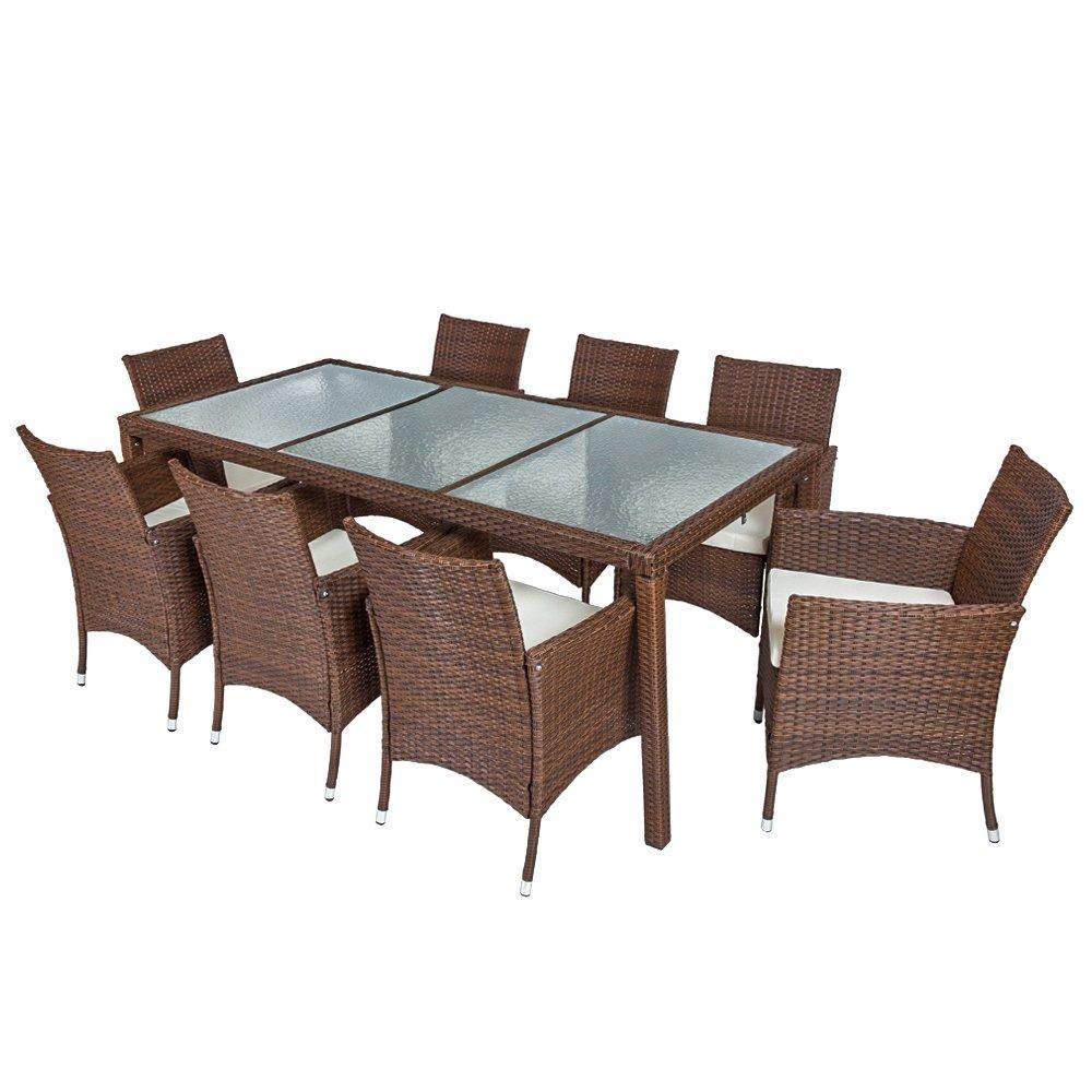 13 tlg poly rattan gartenm bel wei gartengarnitur gartenset sitzgruppe m01 g nstig online kaufen. Black Bedroom Furniture Sets. Home Design Ideas