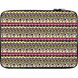 Snoogg Aztec Pink 12 To 12.6 Inch Laptop Netbook Notebook Slipcase Sleeve