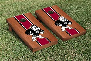 Alabama A&M University Bulldogs Cornhole Wooden Game Set Rosewood Stained Stripe... by Gameday Cornhole