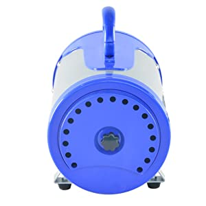 SHELANDY 3.2HP Stepless Adjustable Speed Pet hair force dryer Dog grooming blower with heater(Blue) (Color: Blue)
