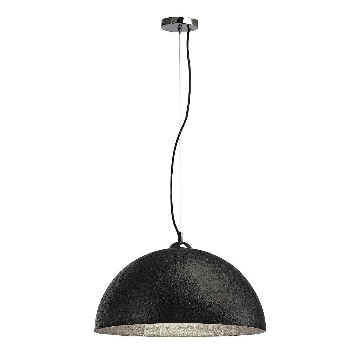 Pendelleuchte Forchini 50 cm schwarz/silber