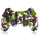 Game Controller for PS3,Wireless Gaming Controller, Double Vibration Game Controller with Upgrade Sixaxis and High-Precision Joystick for Playstation 3 (Green) (Color: green)