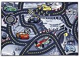 Disney Pixar Cars 'World of Cars, Grey - CARS97' Children's Bedroom Rug 3ft 1 x 4ft 4 CARS97