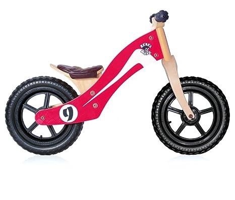 Rebel Kidz-Draisienne Enfant Rebel Kids Retro Racer Bois Rouge Blanc-Vélos Complets