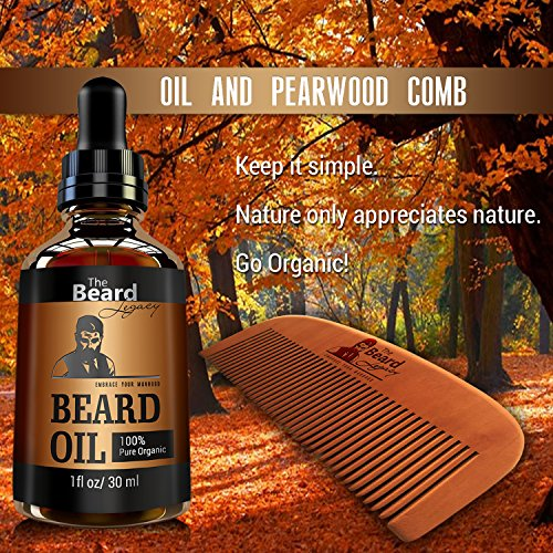 premium beard comb beard oil kit for men made in usa beard mustache care maintenance bundle. Black Bedroom Furniture Sets. Home Design Ideas