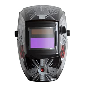 Antra AH6-260-6320 Solar Power Auto Darkening Welding Helmet with AntFi X60-2 Wide Shade Range 4/5-9/9-13 with Grinding Feature Extra Lens Covers Good for Arc Tig Mig Plasma (Color: Bloody Ghost, Tamaño: 3.86X1.78)
