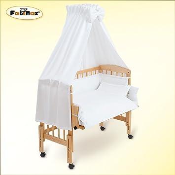 8 fabimax lit cododo pro pro avec quipement amelie blanc int gral matelas protect b b s. Black Bedroom Furniture Sets. Home Design Ideas