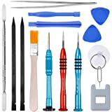 Vastar 16Pcs Cell Phone Repair Tool Kit for iPhone Precision Screwdriver Set with Magnetizer/Demagnetizer Tool & Opening Pry Tools for iPhone X/8/8 Plus, 7/7Plus,6P/6S/6/5S/5/5C/4S/4/SE,iPod,iTouch (Color: Multicolored, Tamaño: 16Pcs)