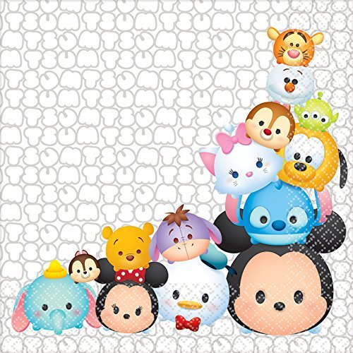 [16 Pack Disney Tsum Tsum Lunch Napkins Birthday Party Supplies] (Ups Package Costume)