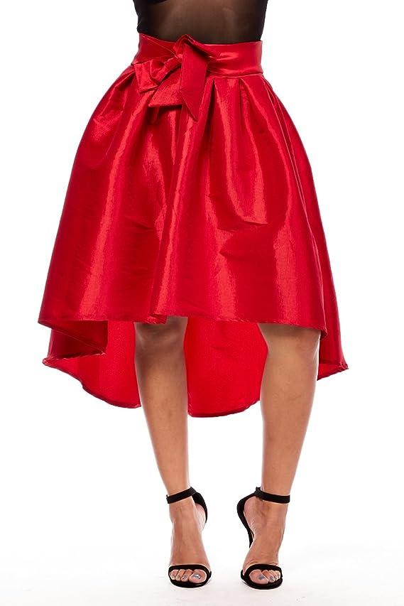 Womens Ladies Juniors Huge Swagger High Low Taffeta Style Skirts sk5299