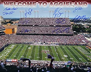 Texas A&M Aggies Autographed Commemorative 16x20 Photo - 10 Signatures -... by Sports Memorabilia