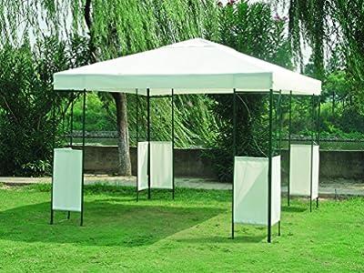 Moderner Pavillon COLOMBO 3x3, Dach wasserdicht weiss von gartenmoebel-einkauf auf Gartenmöbel von Du und Dein Garten