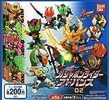 ガシャポンライダーアドバンス 02 全5種 ガイム 鎧武 オーズ全5種 1 仮面ライダー斬月・真 メロンエナジー