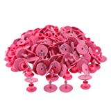 Baosity 100PCS Small Numbered Livestock Ear Tag for Pig Cow Cattle Goat Sheep - Pink (Color: Pink)