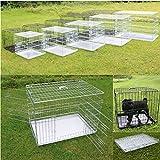 Hunde-Transportbox versch. Größen wählbar + kostenloser Versand / faltbarer Transportkäfig Hundebox Drahtkäfig Hundekäfig Käfig (Schwarz, M)